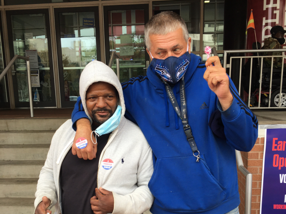 Lamont and James just voted!